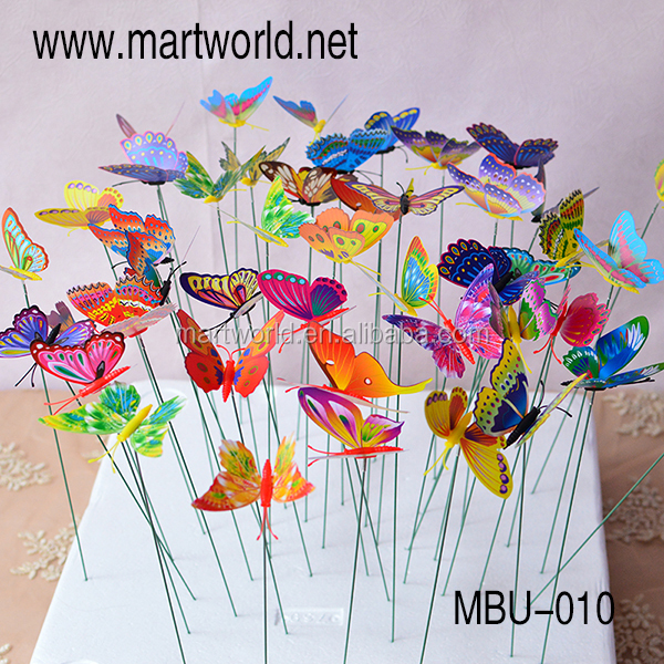 2017 New flying butterfly wedding decoration party decoration cake decoration(MBU-010)