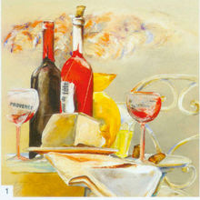 high quality canvas pure handpainted glass wine bottle still life oil painting for home