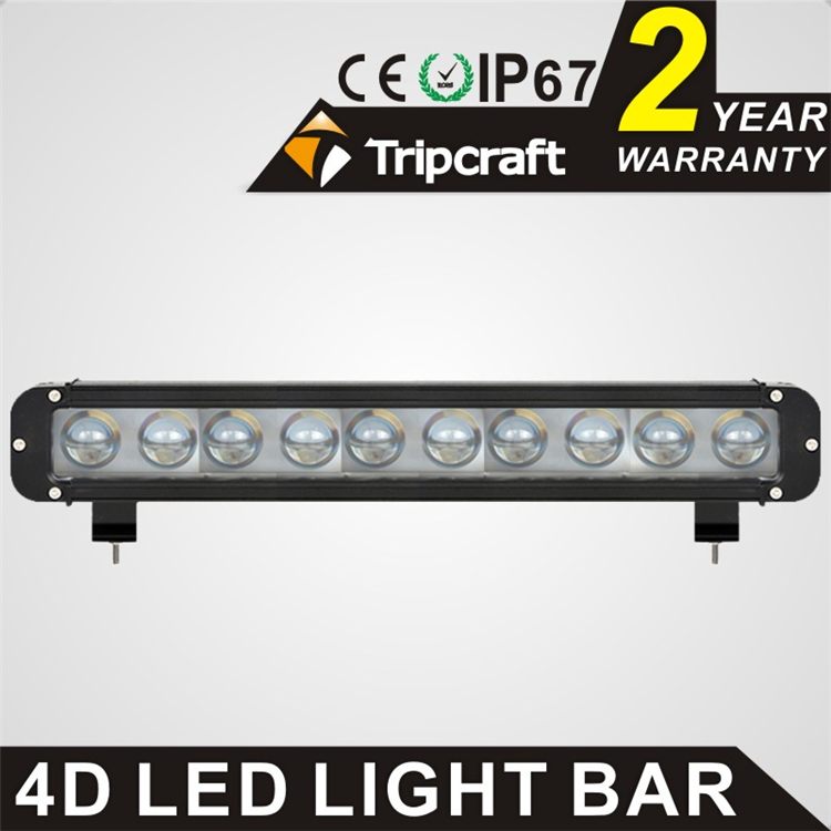 17.2 inch 100W 4d LED work bar light 12V 24V IP67 Flood Or Spot beam For 4WD 4x4 Off road Light Bars TRUCK BOAT TRAIN BUS
