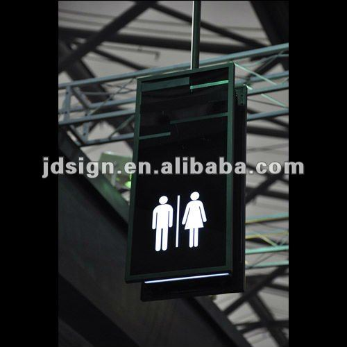 LED digital signage panel hanging system