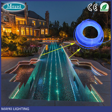SOF-8 8mm Polymer Side Glow Fiber Optic Cable With Single Large Diameter Monofilament Side Beam Cable For Pool Pond Lights