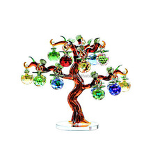 Business gifts K9 crystal apple tree for Christmas decor