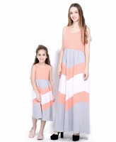 2018 New Arrival Mother Daughter Matching Dress Sleeveless Fashion Chevron  Patchwork Mommy And Me Party Dress - Buy Good Quality Mother Daughter  Chevron ... a2ee6b08aeaf