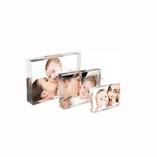 4x6'' Lucite Photo Display Frame Freestanding 15mm Thick Acrylic Picture Block