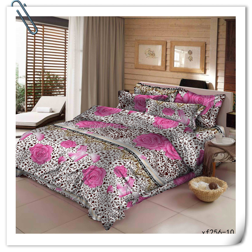 100% polyester floral bedsheet printed fabric design disperse printing fabric for making bedspread