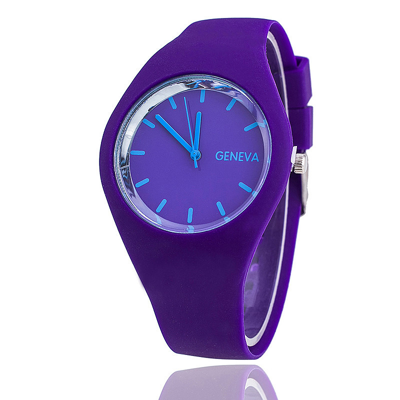 Dress design fashion/vogue/business/simple style silicone band custom logo wholesale japanese movement quartz watch