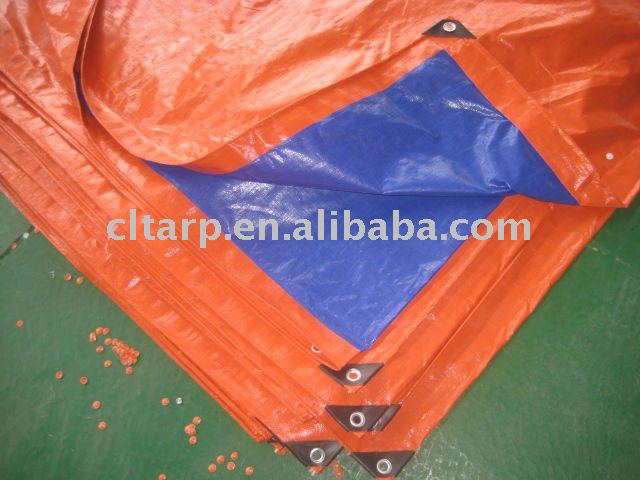 orange/dark blue pe tarpaulin, truck cover, boat cover