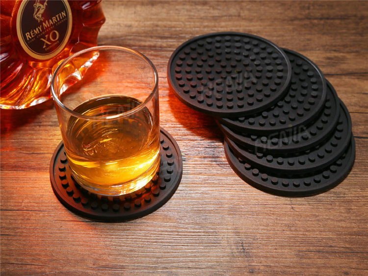 RENJIA drink coasters custom drink coasters wholesale silicone beer holder coaster of cup