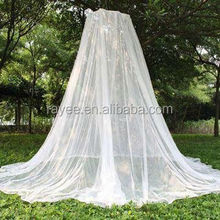 Pop up folding mosquito net, Conical shape treated mosquito nets in while/blue color against Malaria, WHOPES mosquito netting