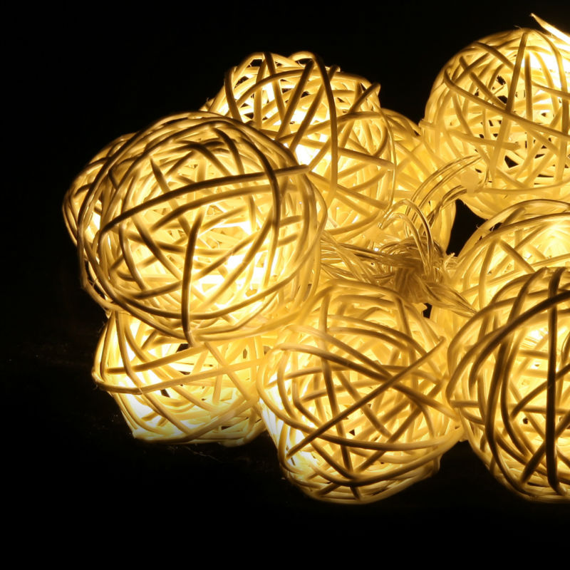 led battery christmas light led cotton beige ball light