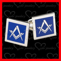 Custom Made Club Logo Metal Cufflinks Masonic Cufflink Manufacturer