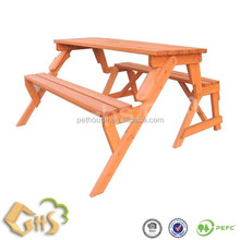 Wooden Garden Foldable Picnic Bench