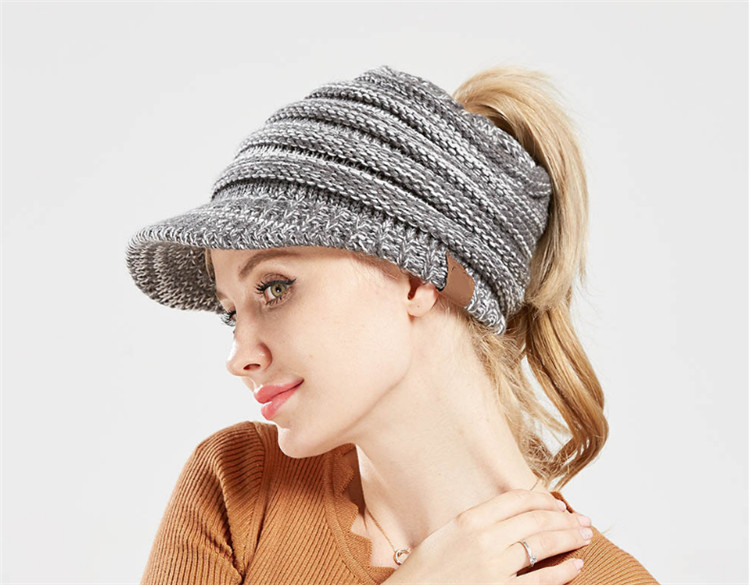 12 colors winter cap knit for girl