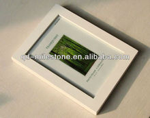 Wave side handmade pine white picture frames