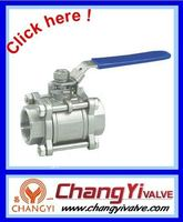 3PC stainless steel lockable thread ball valve (1000WOG, female ball valve)