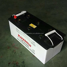 N150 dry car battery 12v 150ah with price