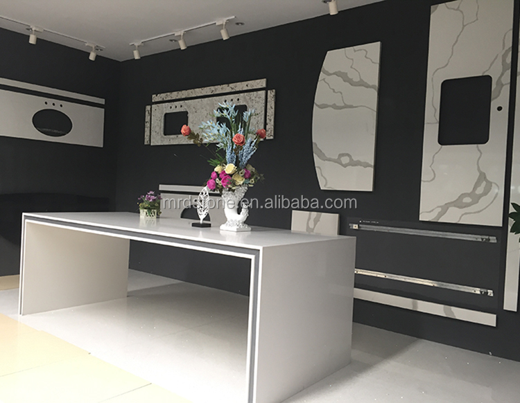China Factory Direct Sales Polished Vanity Top White Carrara Quartz Worktops