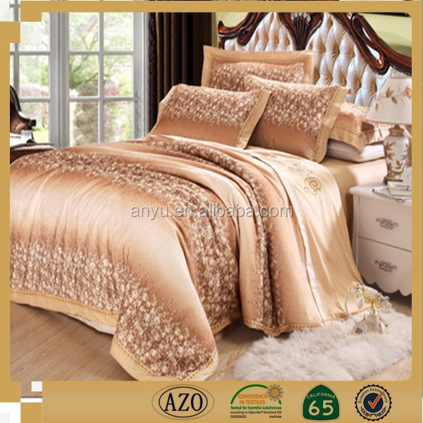 Fancy full size pure bamboo bed sheets made in china