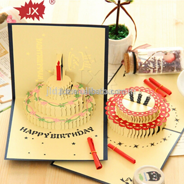 3D custom musical greeting cards for DIY happy birthday card