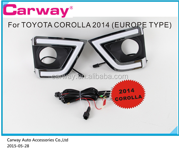 Led Drl fog light for Toyota Corolla 2014 ON Top Quality