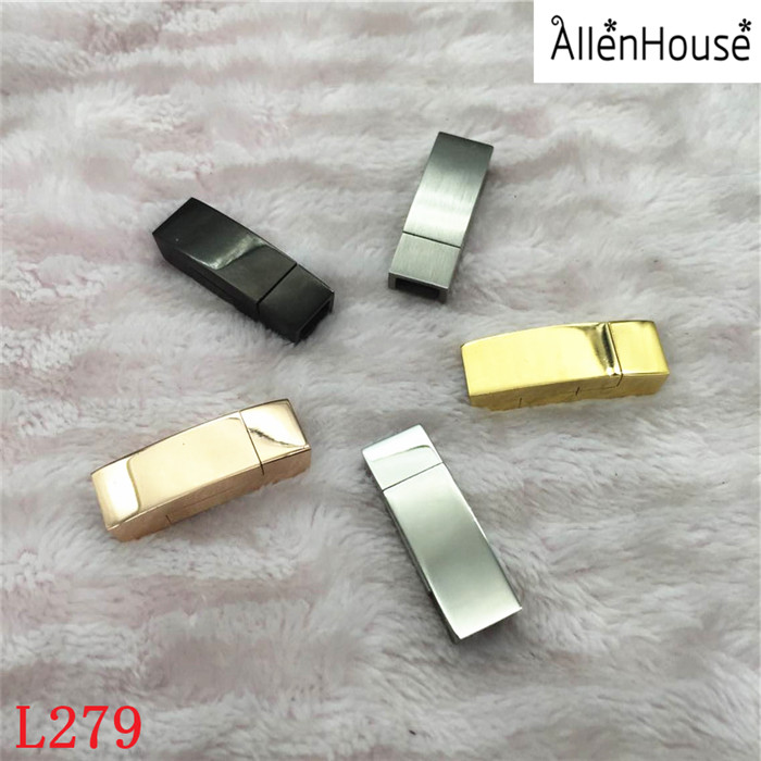 hole 7x2.5mm Stainless Steel silver/black/gold box shaped Magnetic Clasps for Diy Fashion Fine Jewelry Findings Accessories