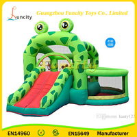 Commercial Inflatable Frog Jumping Castle,Children's Playground Castle Balloon Slide