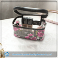 high quality portable waterproof clear vinyl travel cosmetic bag makeup