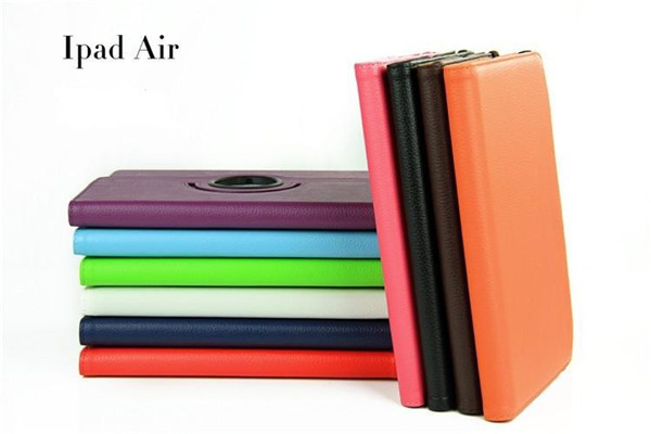 Hot selling PU leather tablet case for iPad Air /iPad 5 (rotation design), translate back ) ,wholesale tablet case for iPad Air