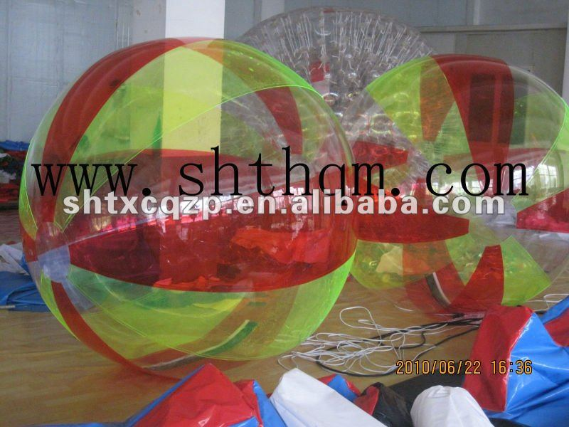 red and yellow water walking balls for sale