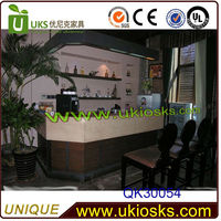 customized hotel bar counter,modern wooden bar counter design for sale