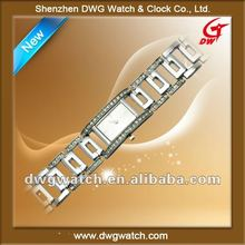 2012 Square ladies alloy watch with Diamond