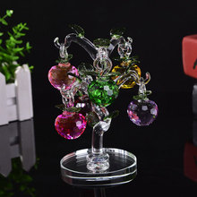 Christmas Ornament Colorful Crystal Apple Tree