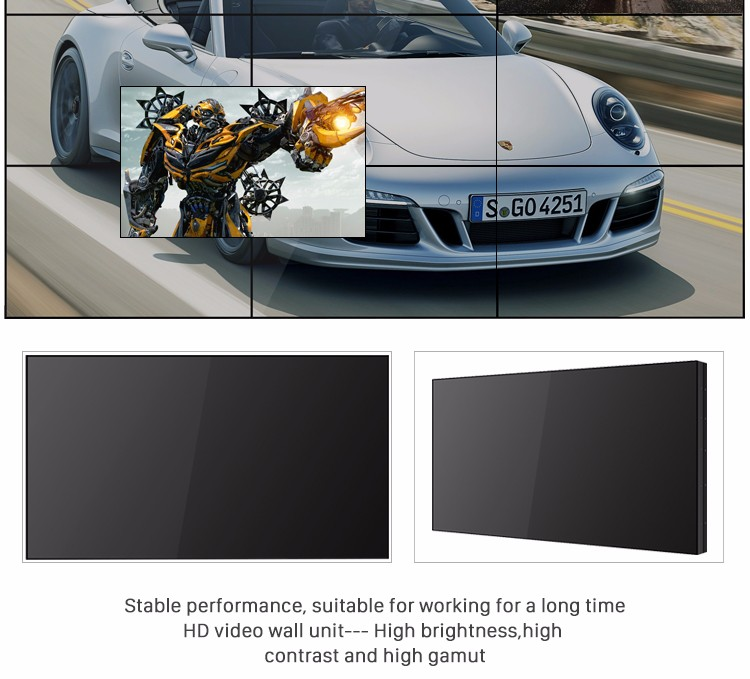 46 Inch Seamless LCD Video Wall With Seamless Bezel 5.3mm