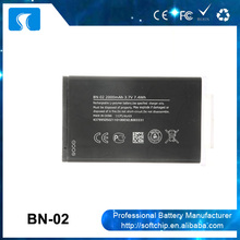 Cheap 3.7V 2000mAh mobile phone battery BN-02 for Nokia XL