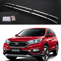 MOQ 1 auto automobile exterior accessories for Honda 2017 CRV Chrome roof rack