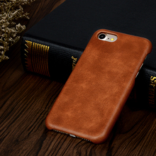 Super slim fully cover genuine leather phone case for iPhone 8