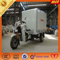 Chinese gearbox gasoline 3 wheel cargo tricycle motorcycle with windshields
