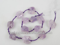 Natural rough stone light amethyst