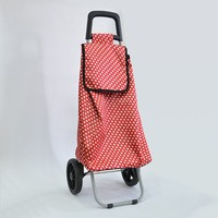 2016 OEM ODM Folding Colorful Shopping Trolley Bag with 600d Oxford Cloth
