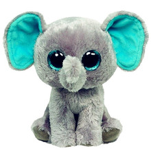 Ty Beanie Boos cute promotion kid toy soft stuffed big eyes animal toy elephant plush toy
