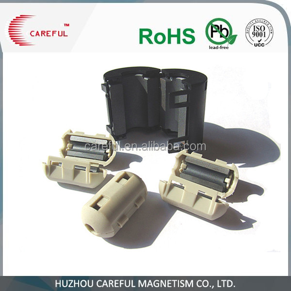 High flux emi supression soft cable ferrite core