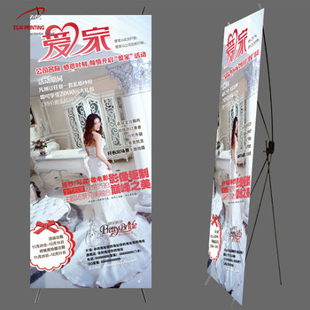Three legs strong and solid display stand X banner for Events