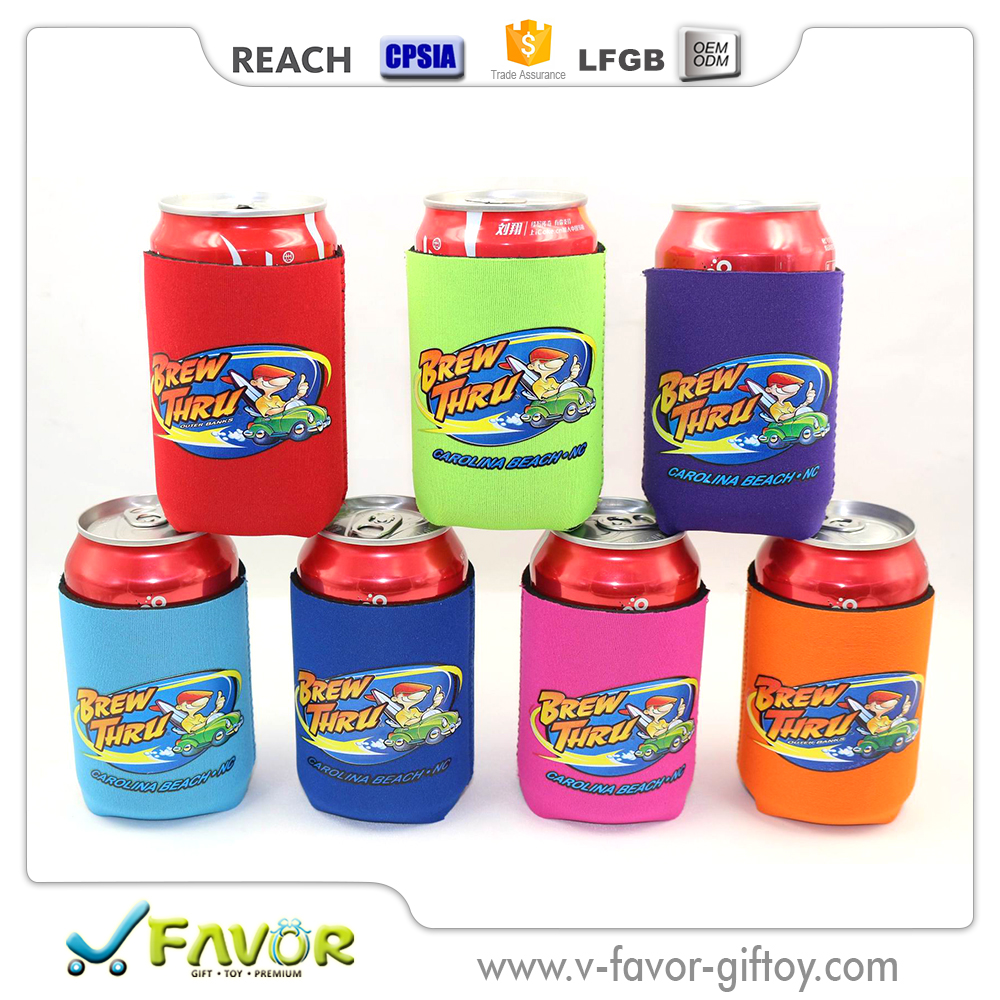 Trendy Neoprene stubby rolling can cooler wrap