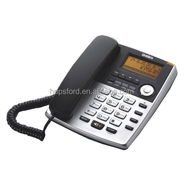 "Uniden AS7501 - 2 line ""Secretary Boss"" Phone, Auto setup system connection, expandable up to 8 stations corded phone"