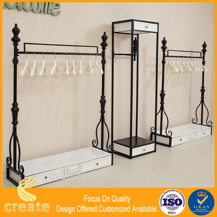 Custom modern shop counter design for garment store/clothing display cabinet