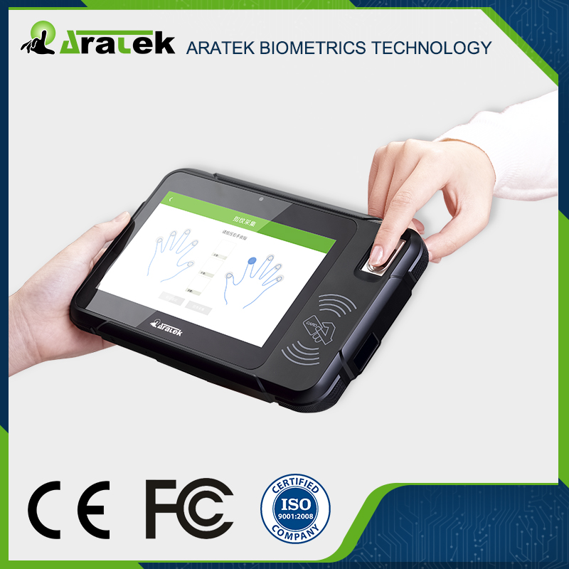 NFC/RFID Android Handheld Fingerprint Tablet