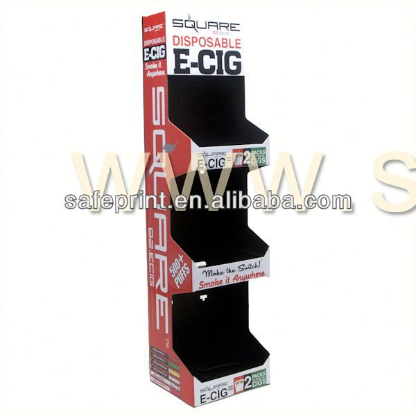 Custom in store 4 tier POP corrugated cardboard head and shoulder display stand