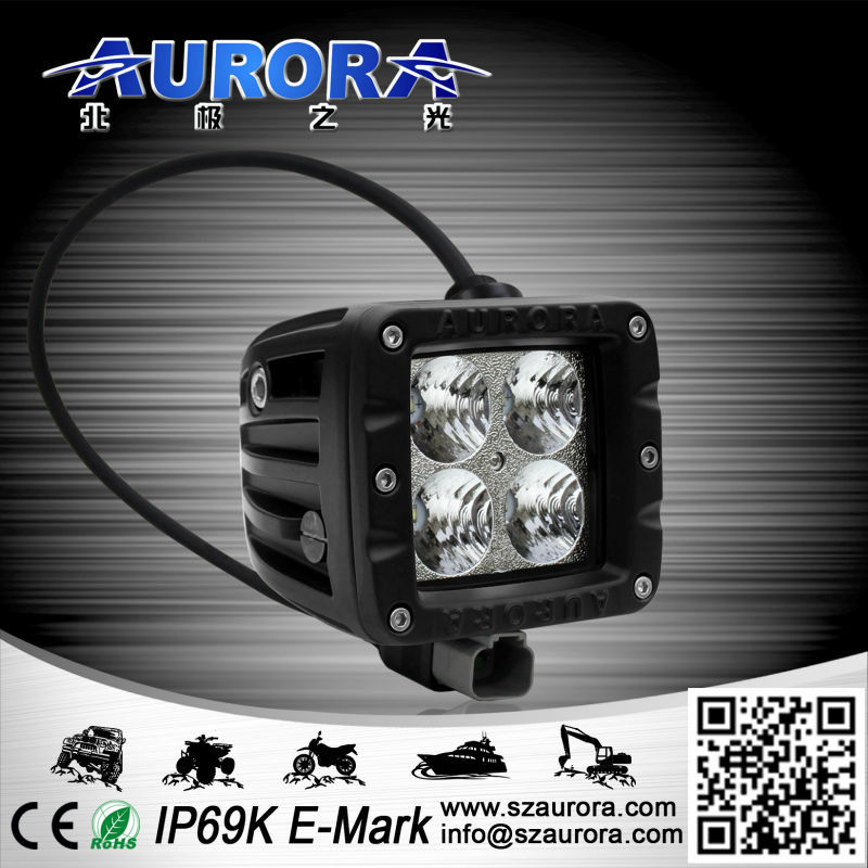 12w hid spot lights for 4wd mini jeep offroad