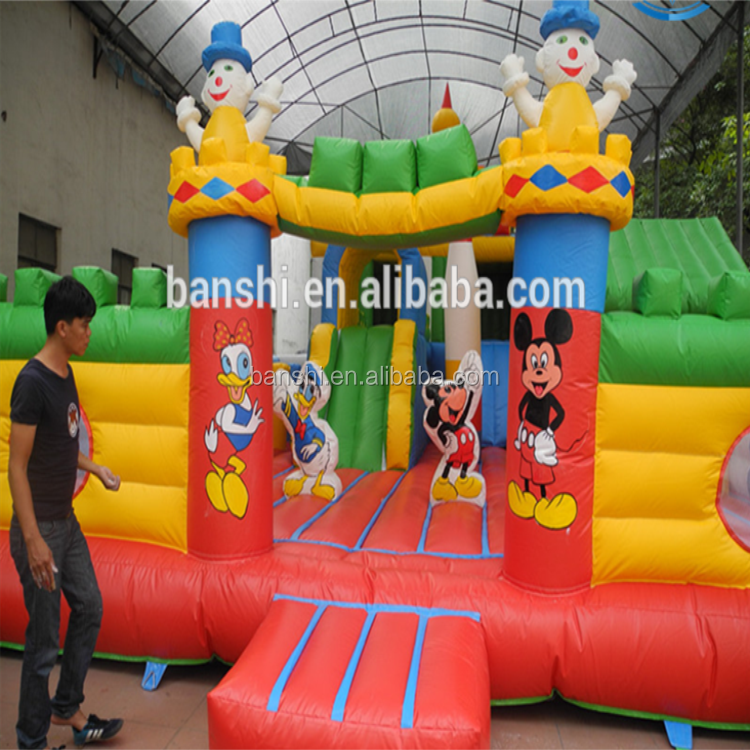 Hot sale Christmas festival commercial cheap inflatable bouncer,jumping bouncy castle with slide