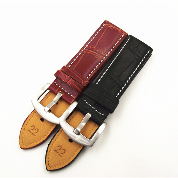 High quality PU leather 1PCS watch strap 18mm 20mm 22mm 24mm 26mm 28mm 30mm watch band black brown
